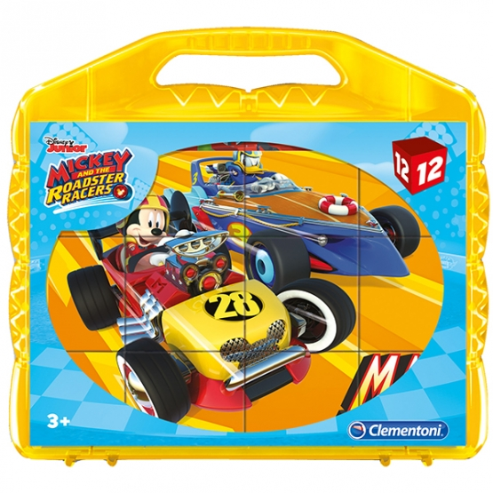 Clementoni Würfel Puzzle Mickey Mouse Roadster 12 Teile
